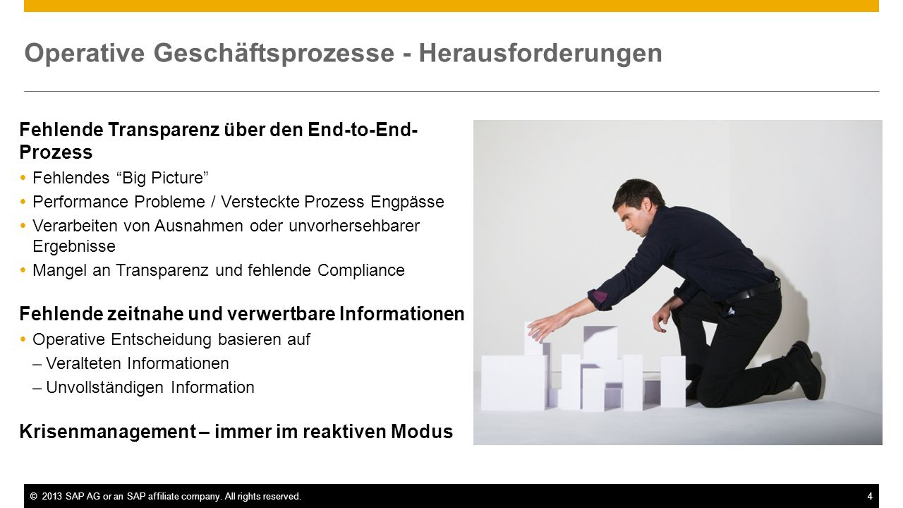 Operative Geschäftsprozesse - Herausforderungen