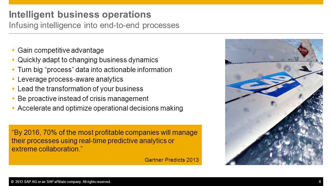 Intelligent business operations Infusing intelligence into end-to-end processes