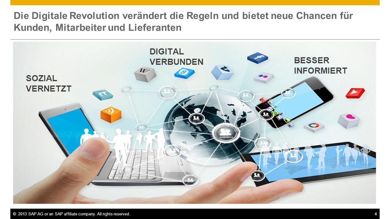 Die Digitale Revolution verändert die Regeln und bietet neue Chancen für Kunden, Mitarbeiter und Lieferanten