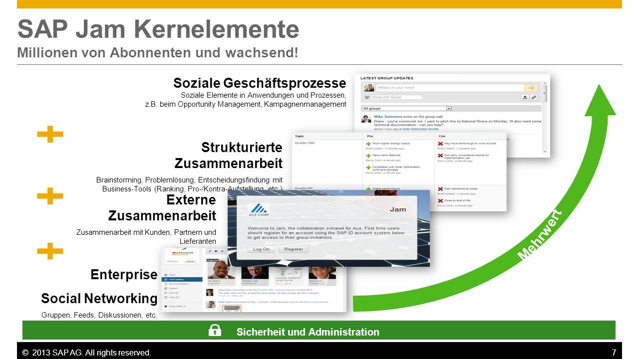 SAP Jam Kernelemente Millionen von Abonnenten und wachsend!
