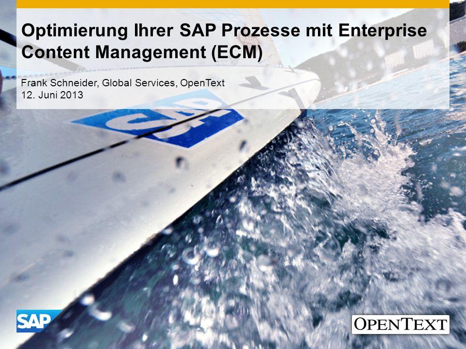 Optimierung Ihrer SAP Prozesse mit Enterprise Content Management (ECM)