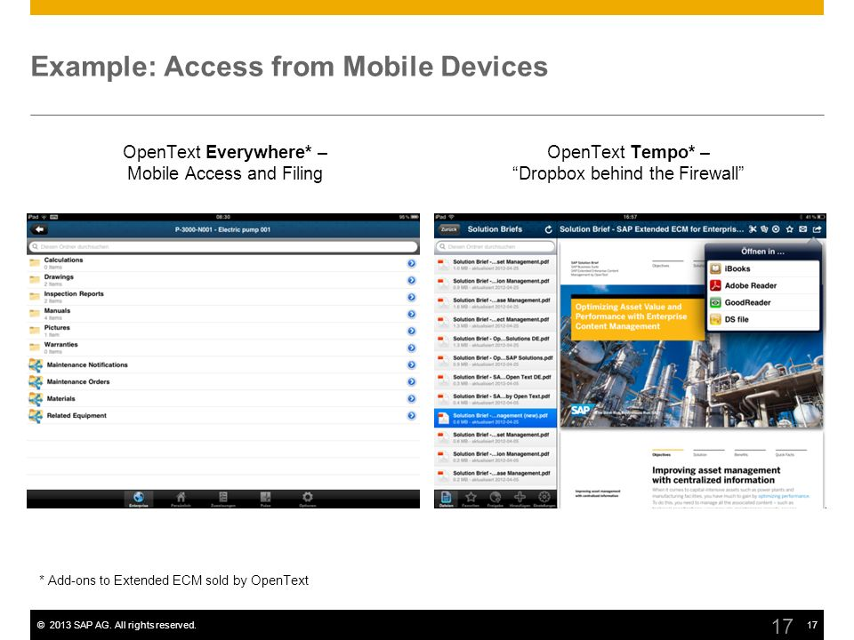 Example: Access from Mobile Devices