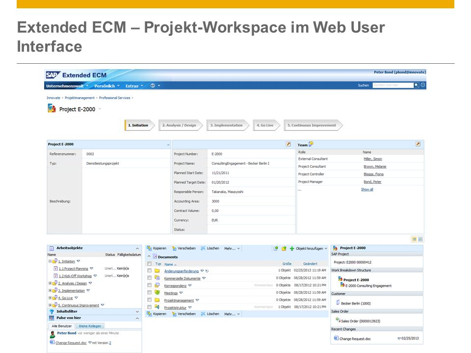Extended ECM – Projekt-Workspace im Web User Interface