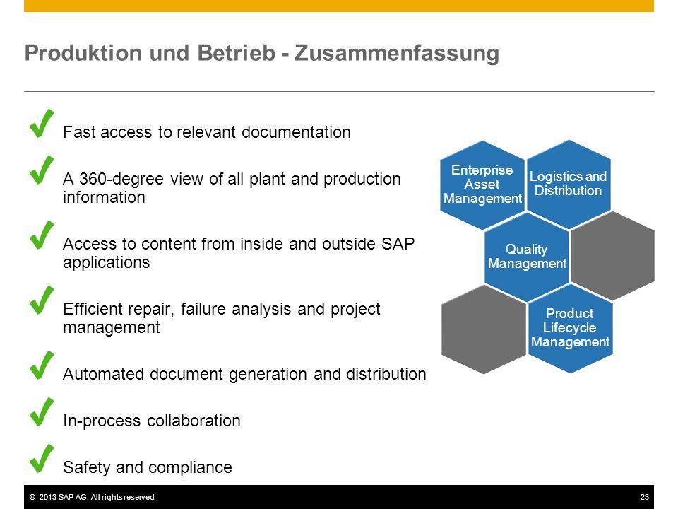 Produktion und Betrieb - Zusammenfassung