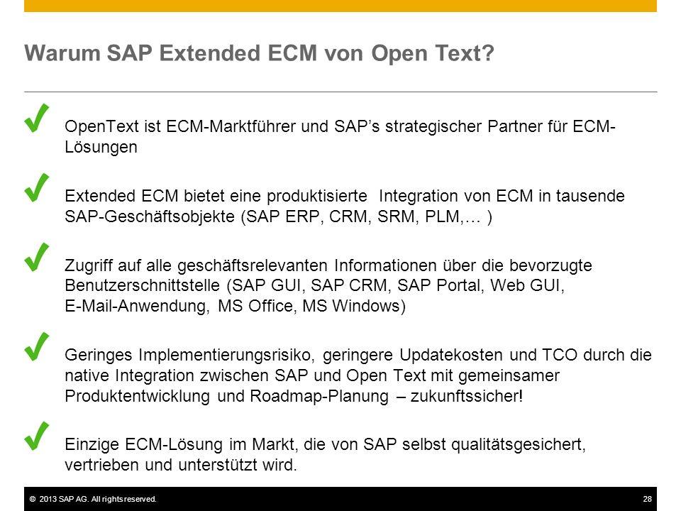 Warum SAP Extended ECM von Open Text