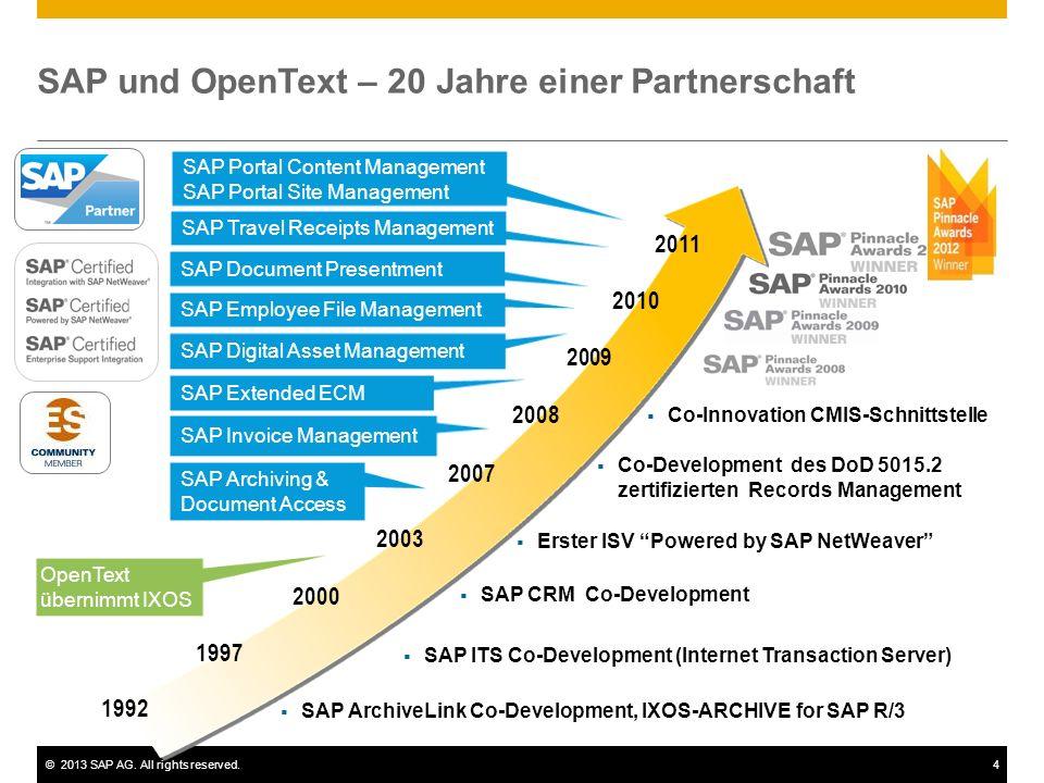 SAP und OpenText – 20 Jahre einer Partnerschaft