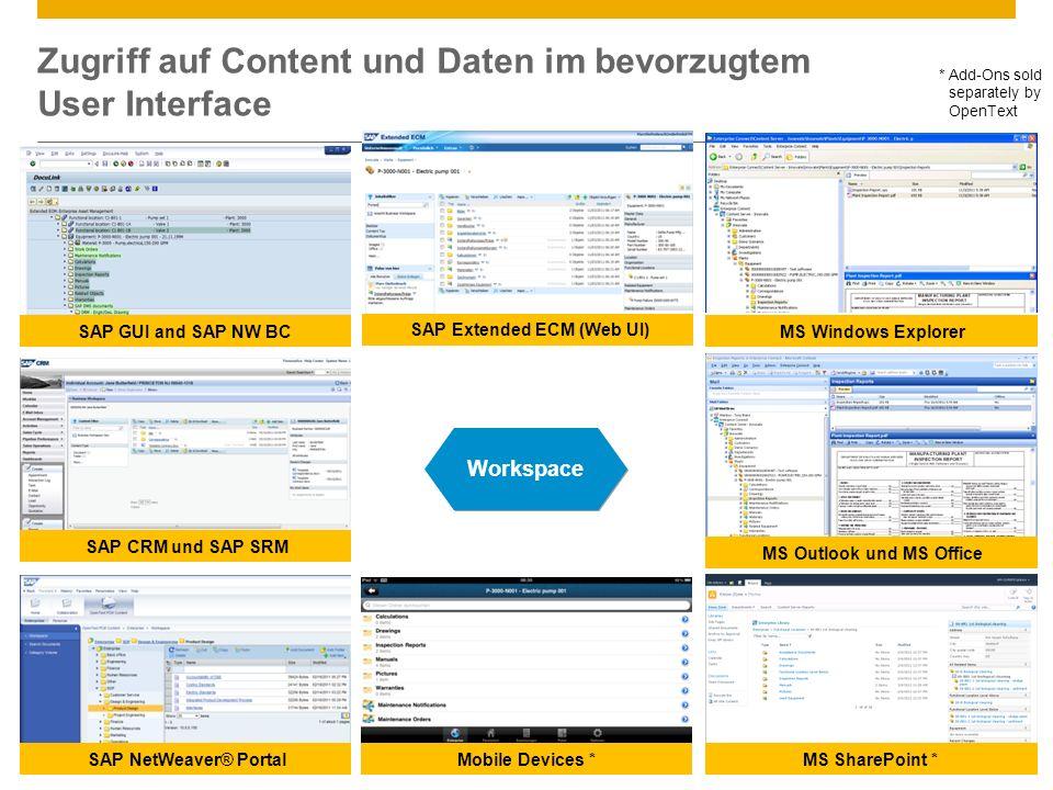 Zugriff auf Content und Daten im bevorzugtem User Interface