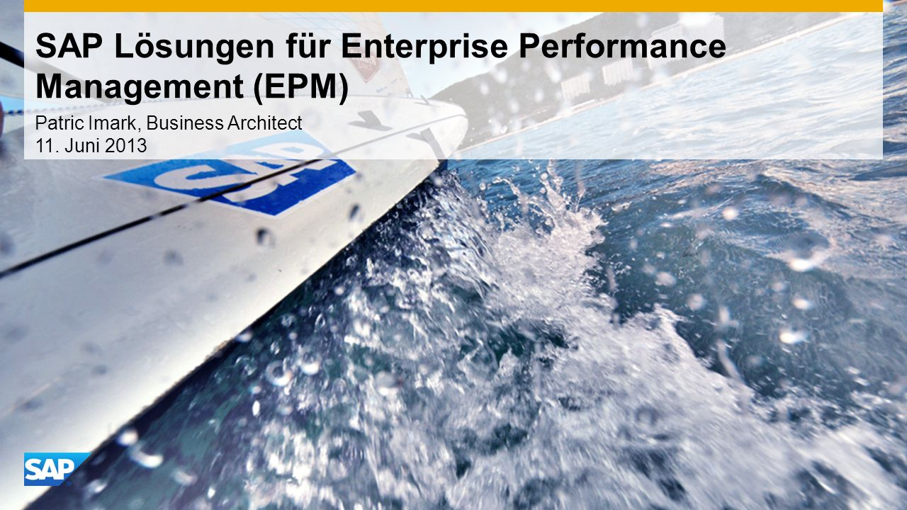 SAP Lösungen für Enterprise Performance Management (EPM)