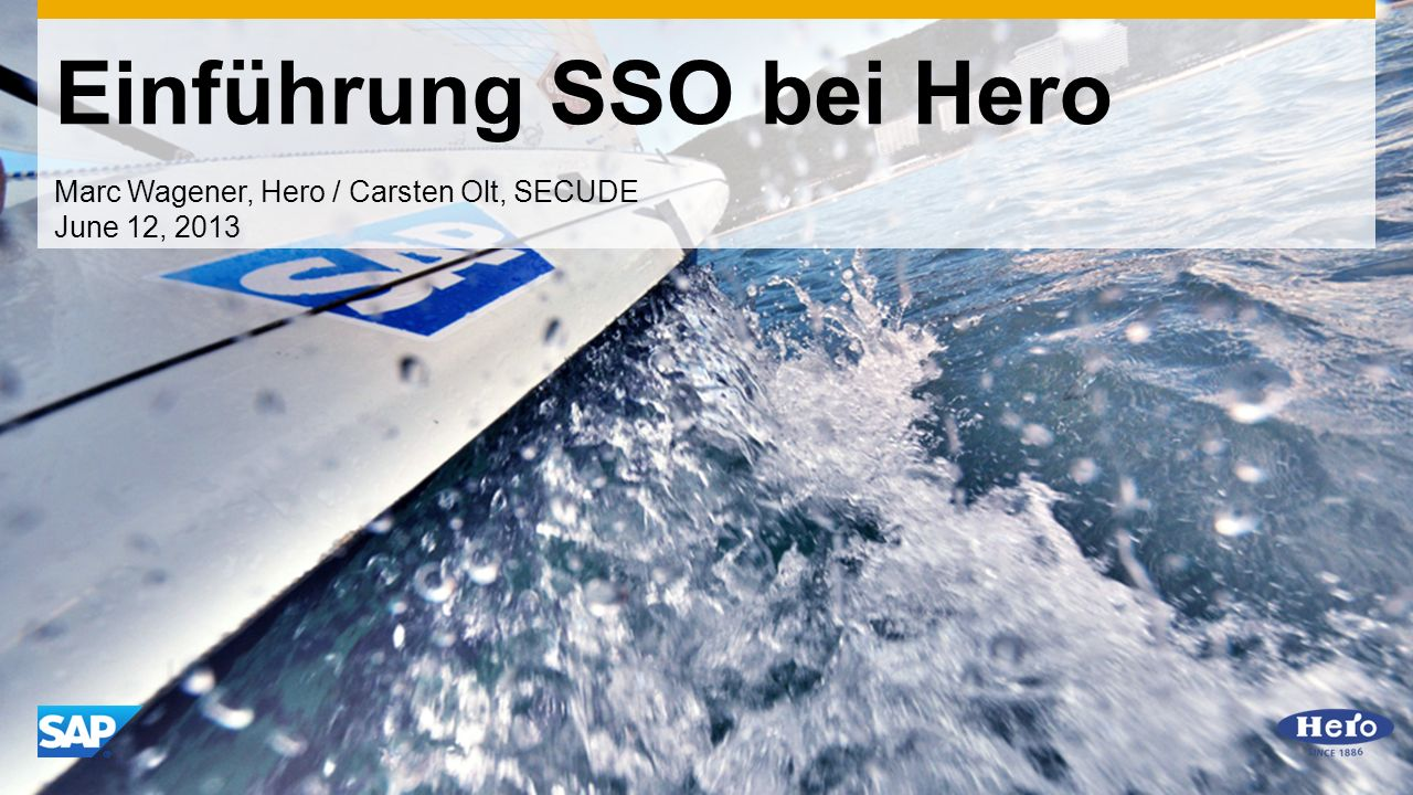 Einführung SSO bei Hero