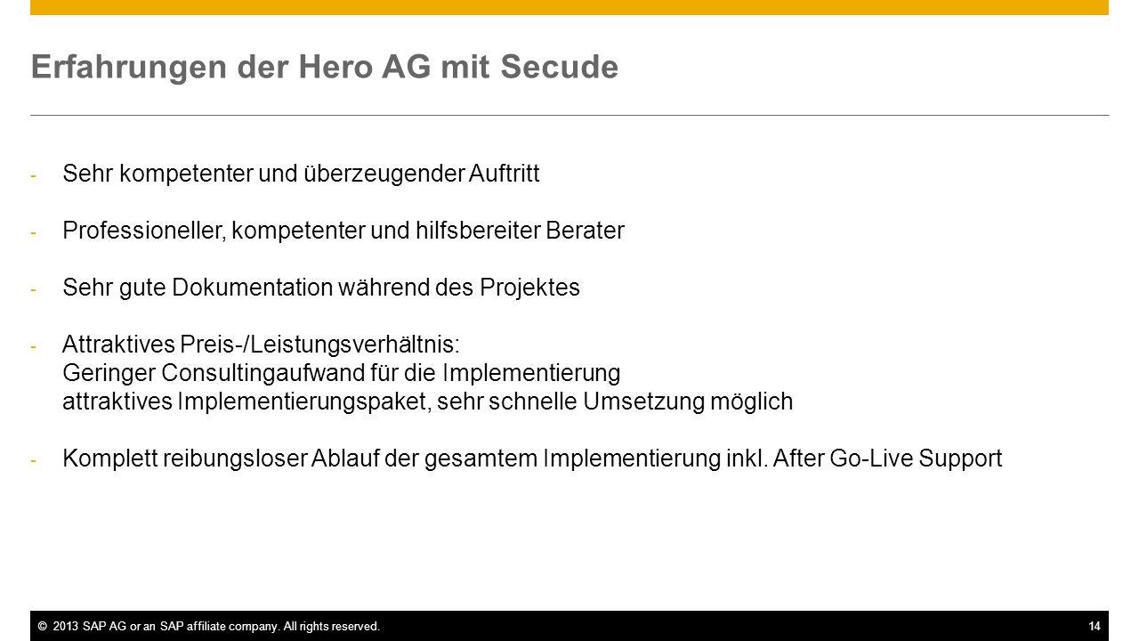 Erfahrungen der Hero AG mit Secude