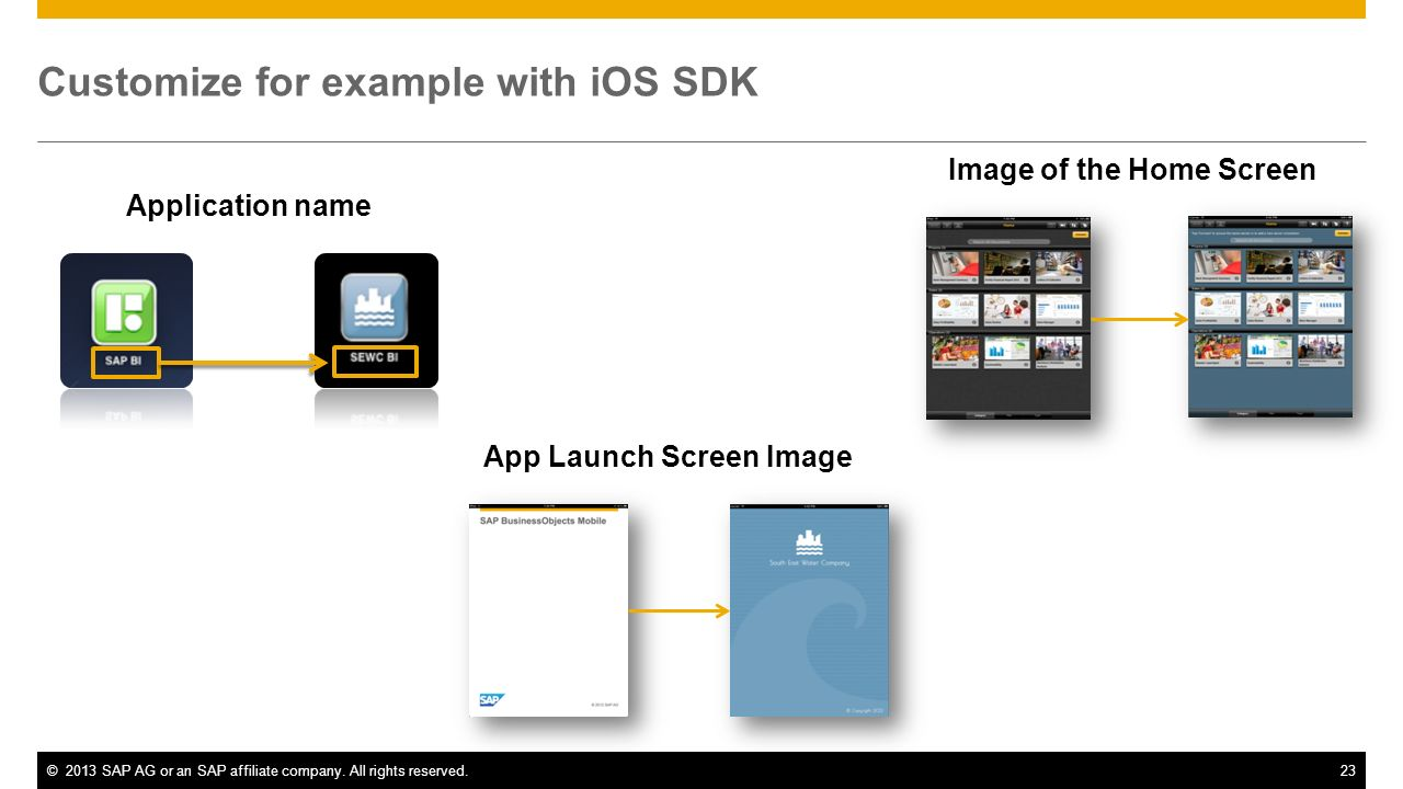 Customize for example with iOS SDK