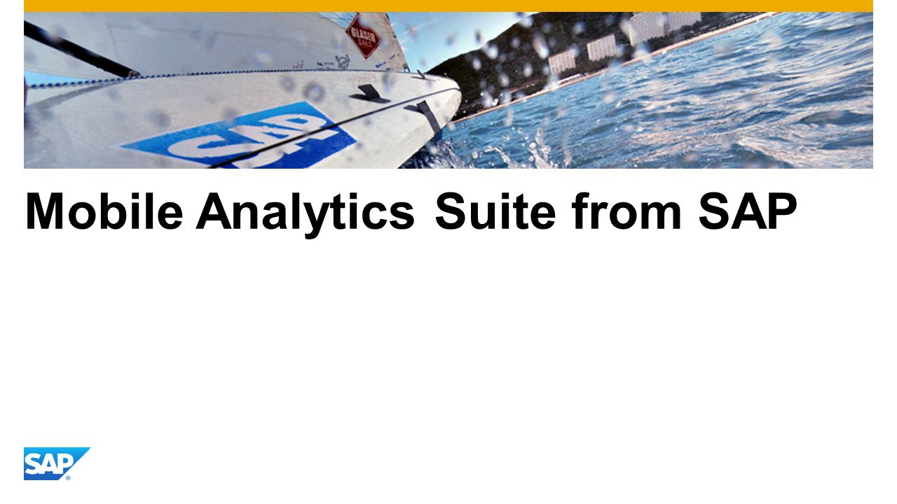Mobile Analytics Suite from SAP