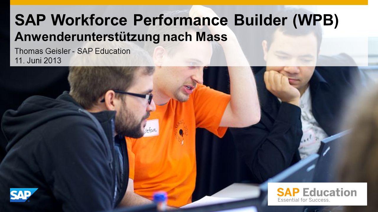 Thomas Geisler - SAP Education 11. Juni 2013