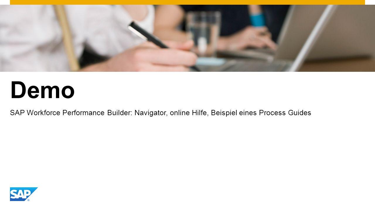 Demo SAP Workforce Performance Builder: Navigator, online Hilfe, Beispiel eines Process Guides