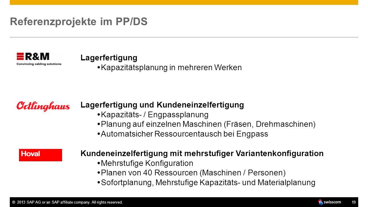 Referenzprojekte im PP/DS