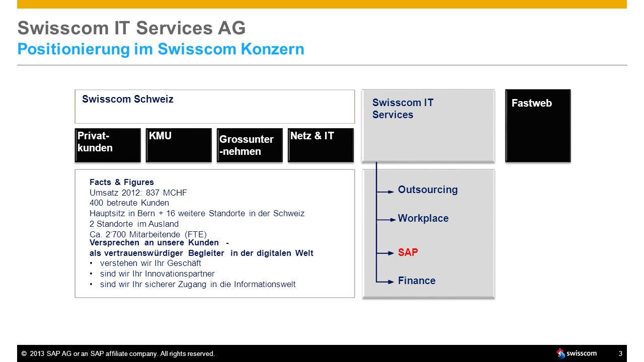 Swisscom IT Services AG Positionierung im Swisscom Konzern