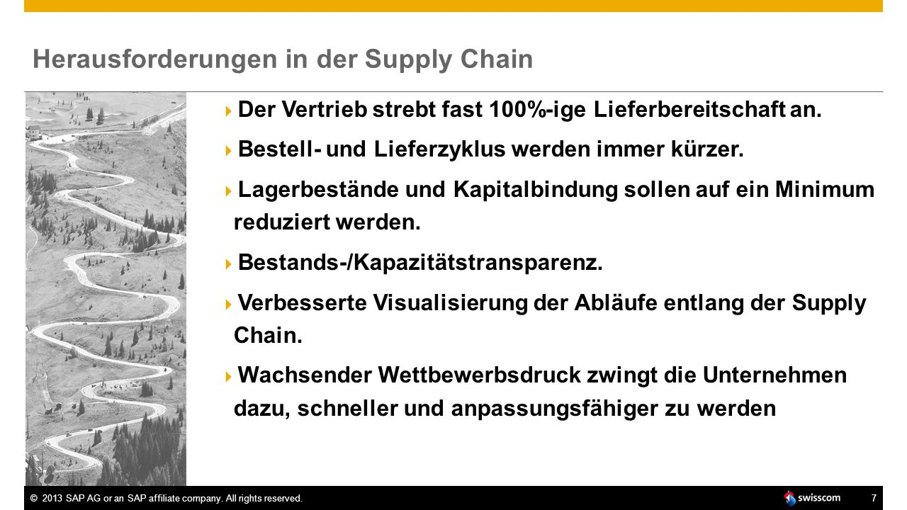 Herausforderungen in der Supply Chain