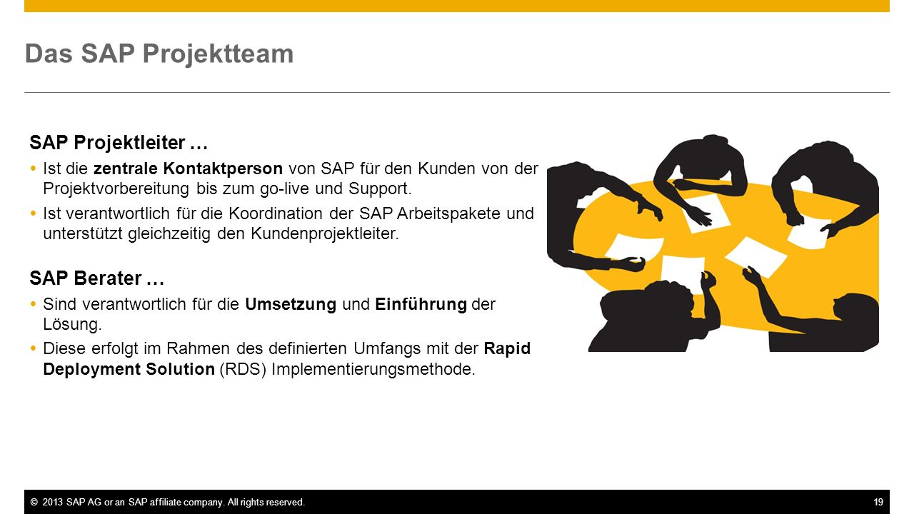 Das SAP Projektteam SAP Projektleiter … SAP Berater …