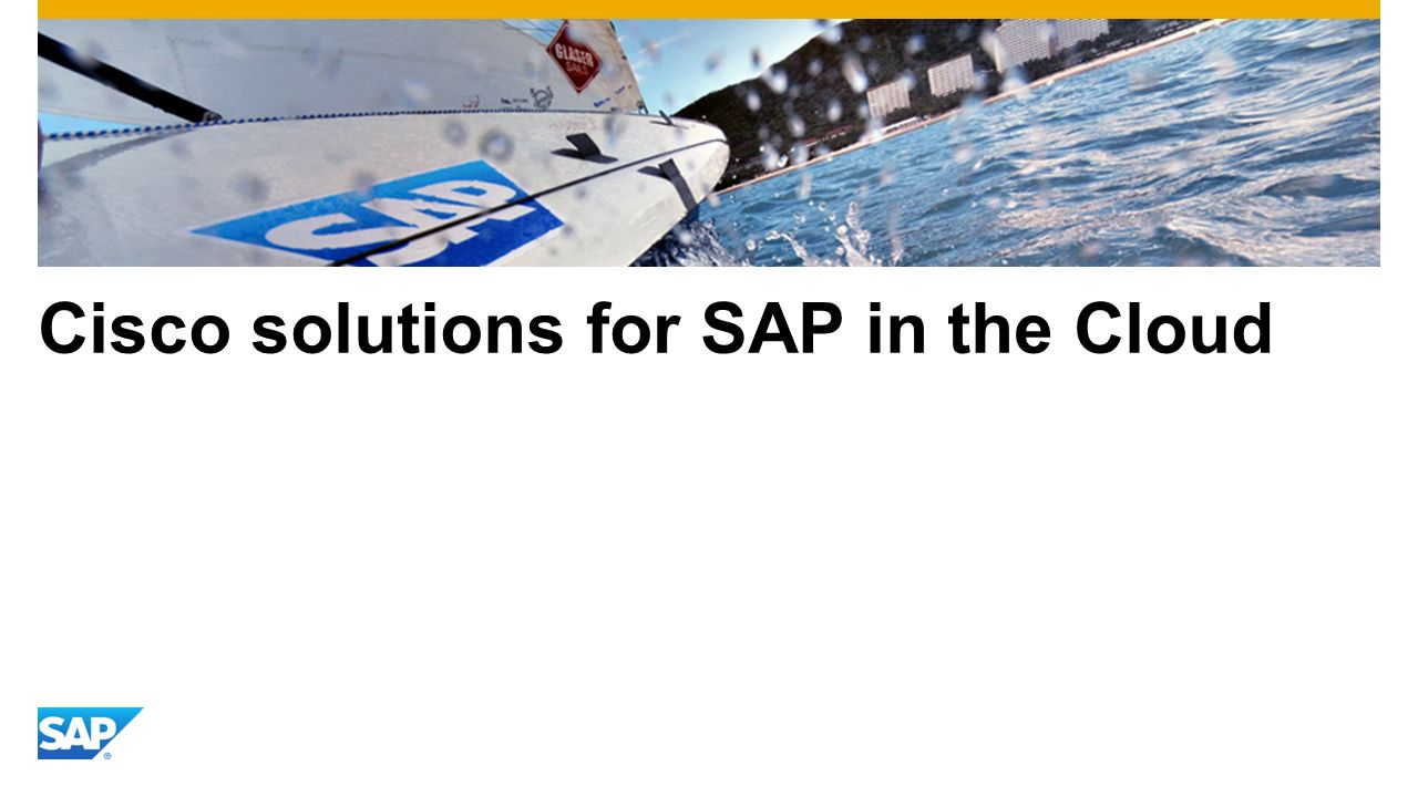 Cisco solutions for SAP in the Cloud