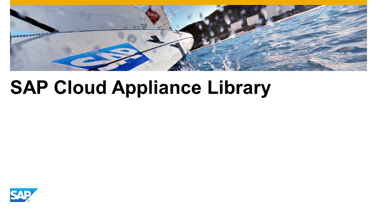 SAP Cloud Appliance Library
