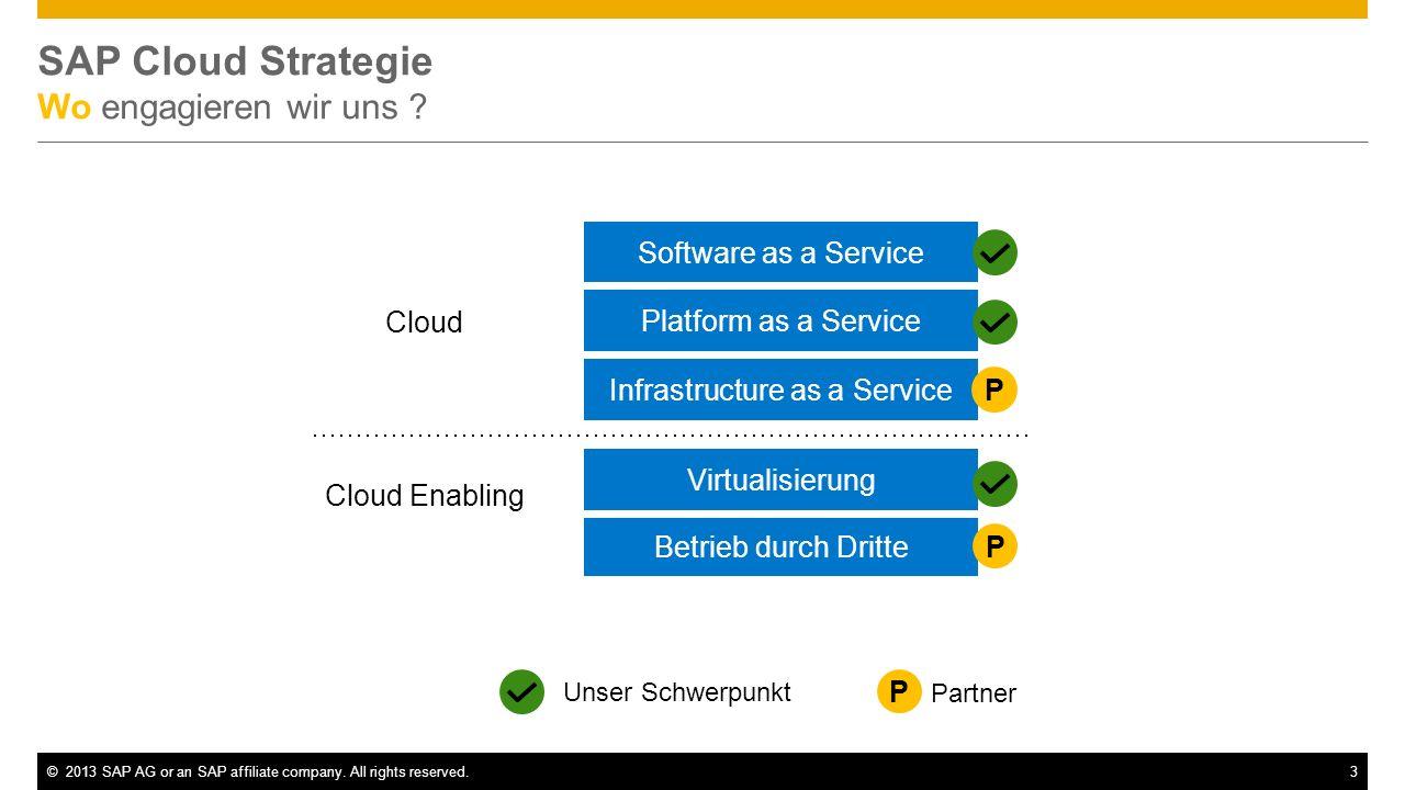 SAP Cloud Strategie Wo engagieren wir uns