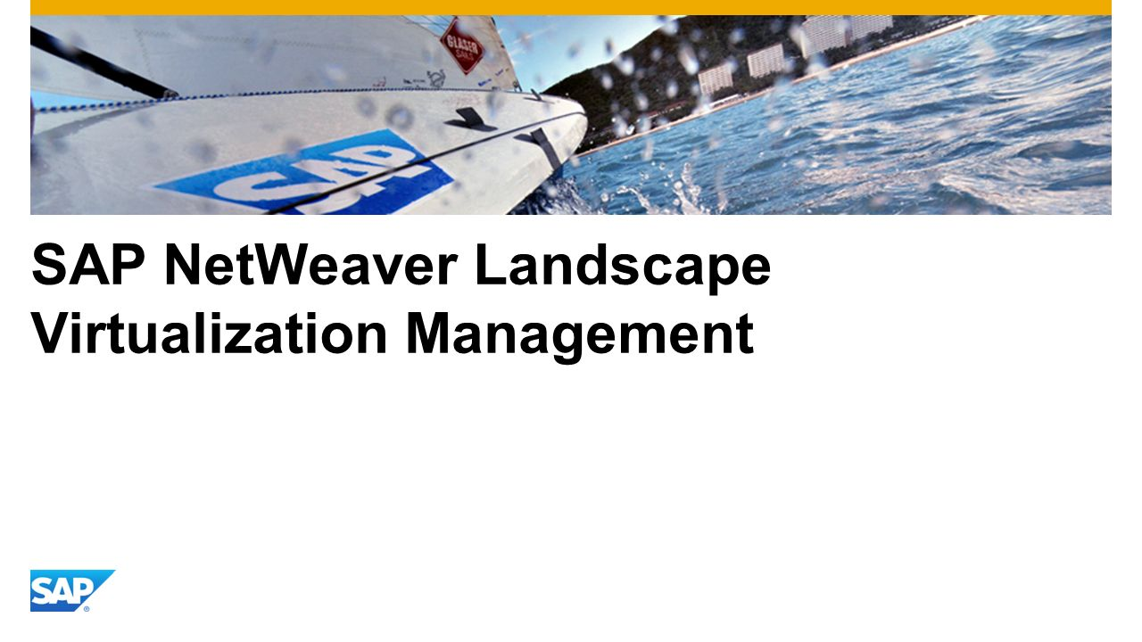 SAP NetWeaver Landscape Virtualization Management