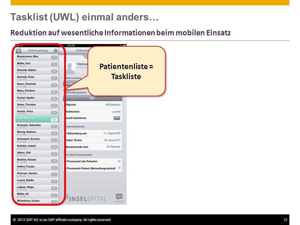Tasklist (UWL) einmal anders…