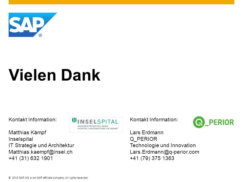 Vielen Dank Kontakt Information: Matthias Kämpf Inselspital