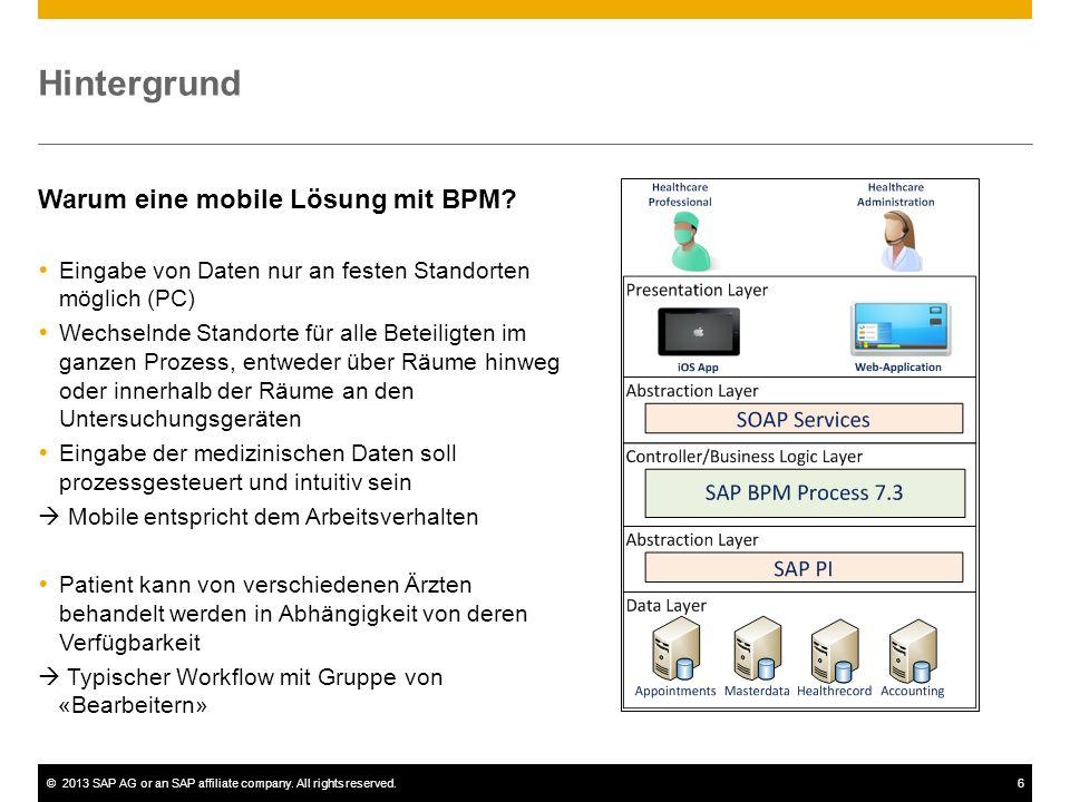 Hintergrund Warum eine mobile Lösung mit BPM