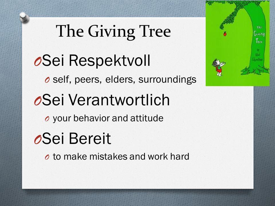 The Giving Tree Sei Respektvoll Sei Verantwortlich Sei Bereit
