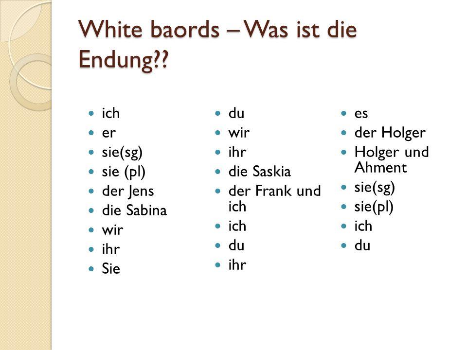 White baords – Was ist die Endung