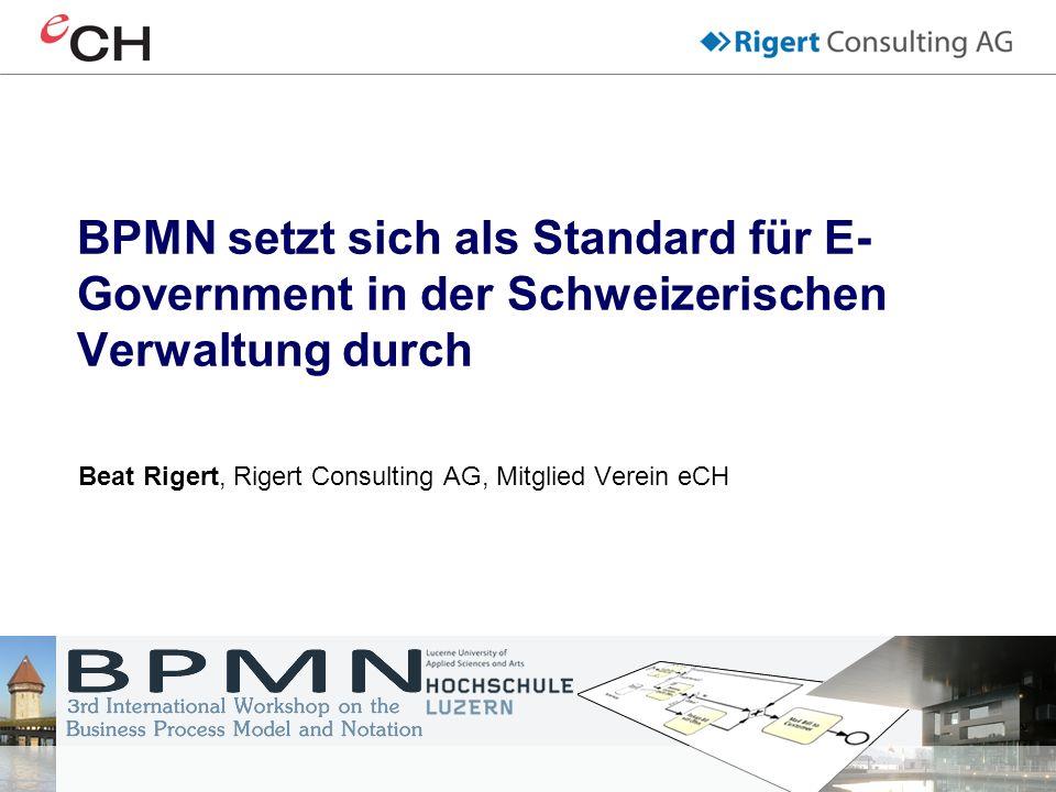 Beat Rigert, Rigert Consulting AG, Mitglied Verein eCH