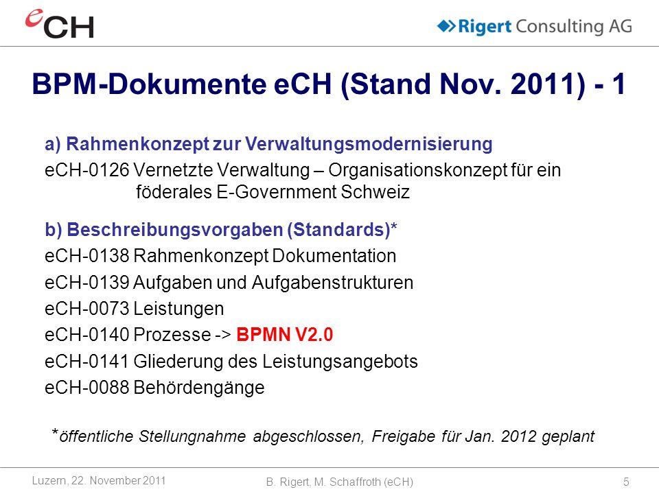 BPM-Dokumente eCH (Stand Nov. 2011) - 1
