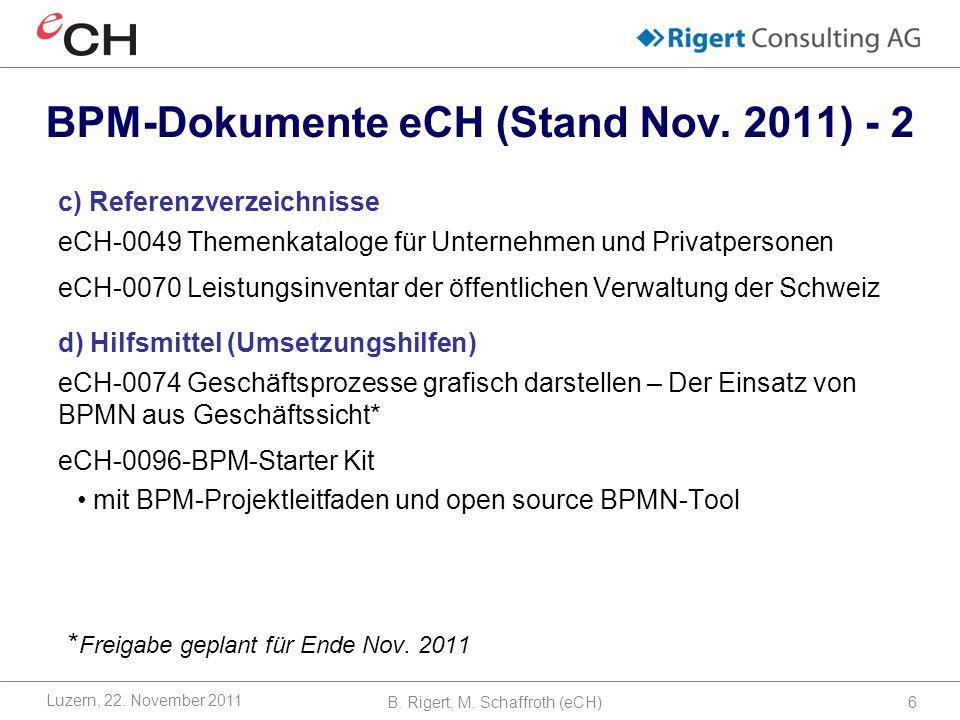 BPM-Dokumente eCH (Stand Nov. 2011) - 2