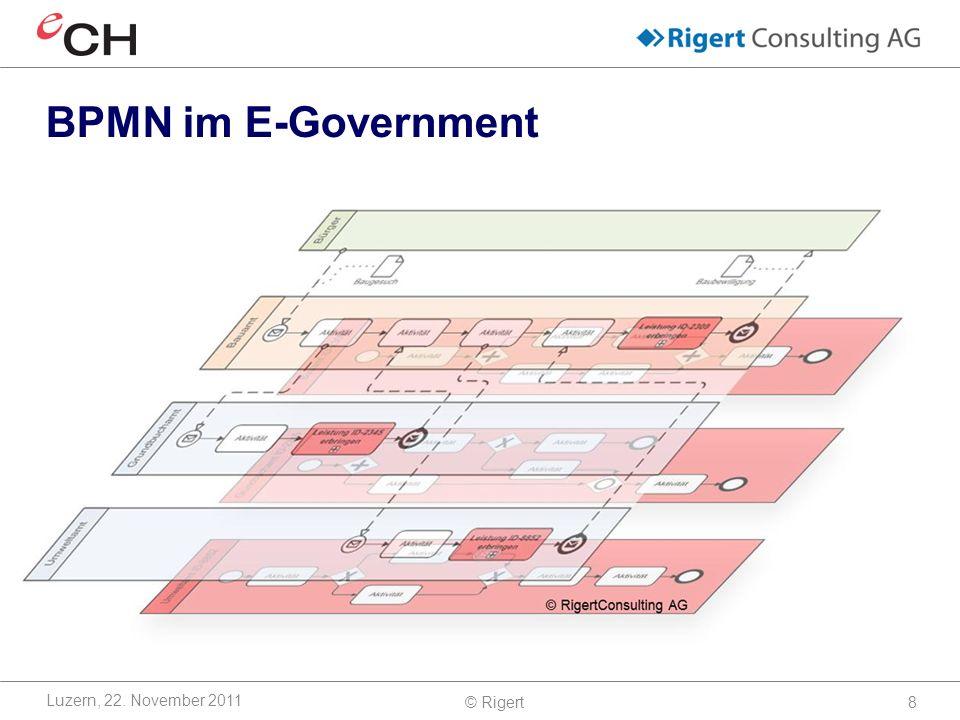 BPMN im E-Government Luzern, 22. November 2011 © Rigert