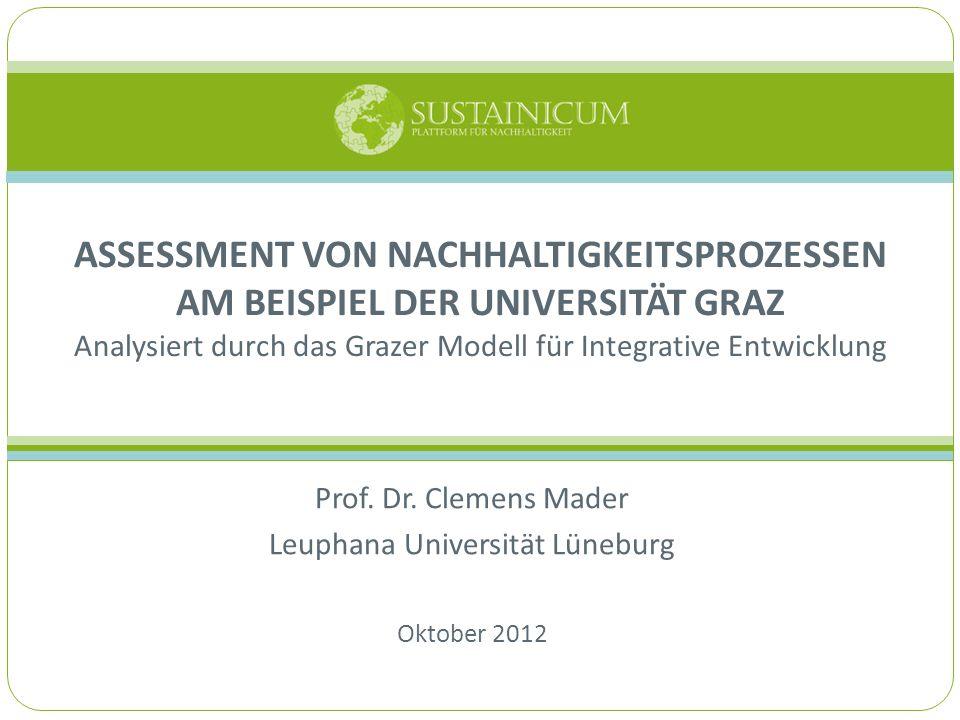Prof. Dr. Clemens Mader Leuphana Universität Lüneburg Oktober 2012
