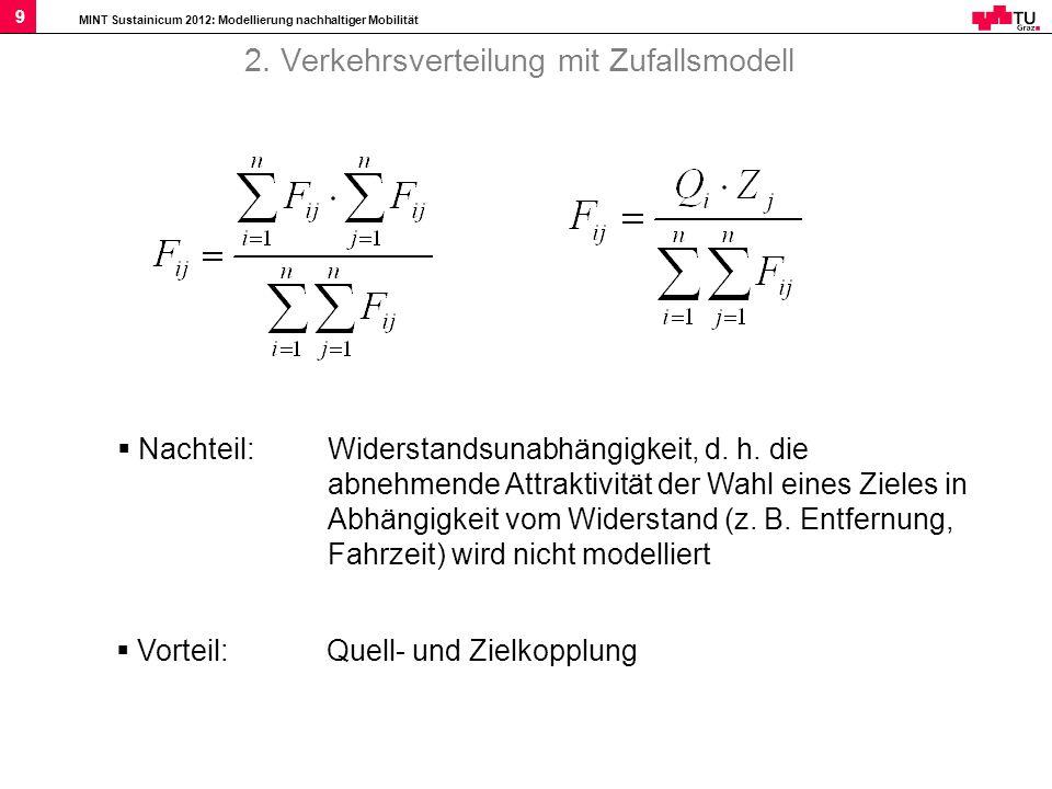 2. Verkehrsverteilung mit Zufallsmodell