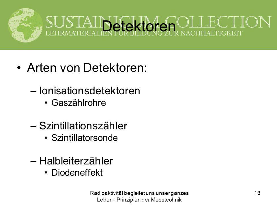 Detektoren Arten von Detektoren: Ionisationsdetektoren