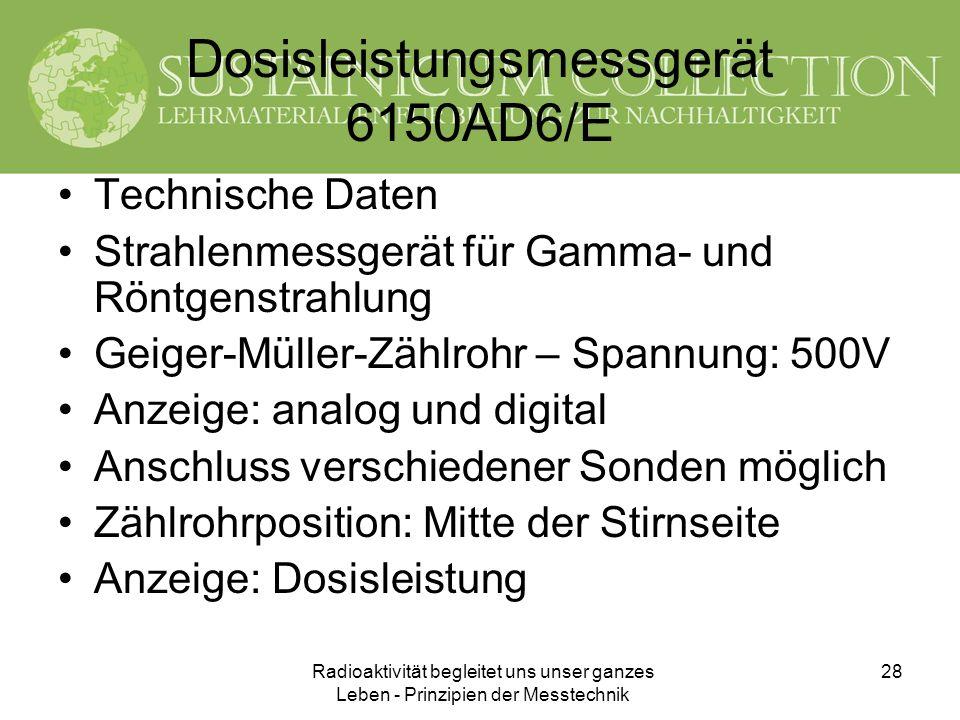 Dosisleistungsmessgerät 6150AD6/E