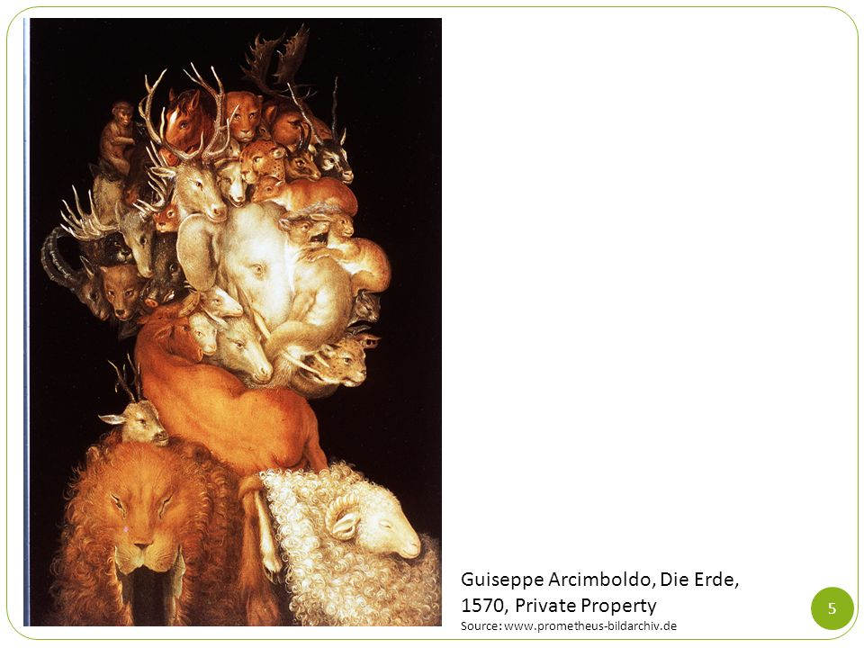 Guiseppe Arcimboldo, Die Erde, 1570, Private Property
