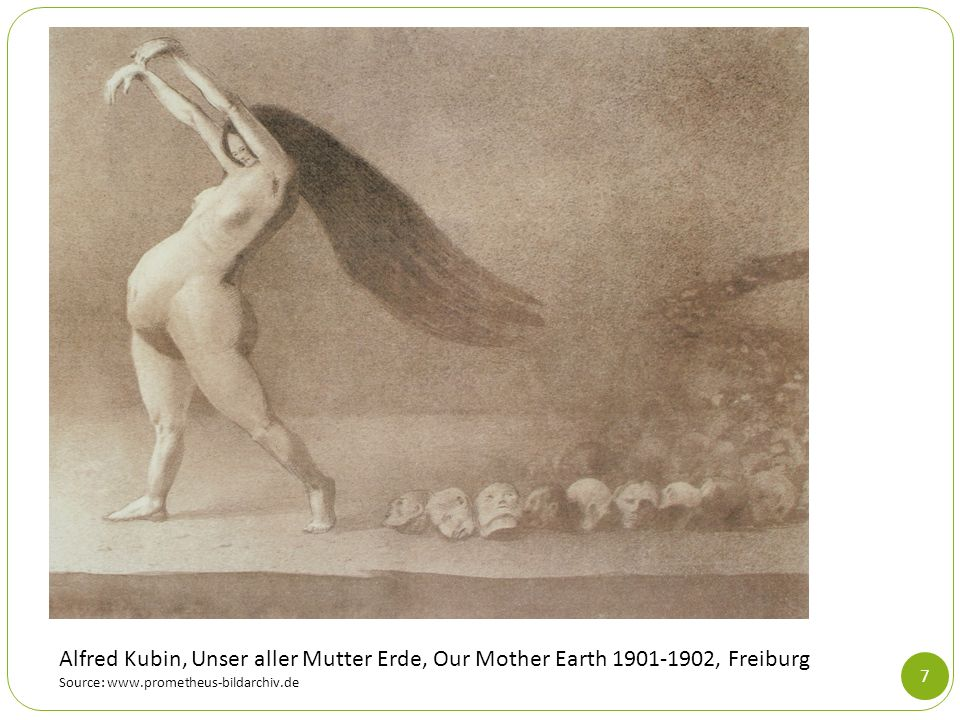 Alfred Kubin, Unser aller Mutter Erde, Our Mother Earth 1901-1902, Freiburg