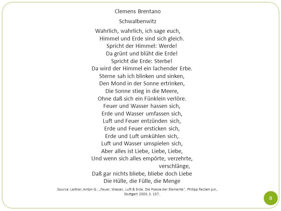 Clemens Brentano Schwalbenwitz