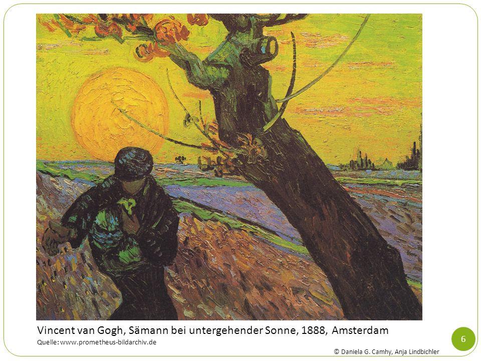 Vincent van Gogh, Sämann bei untergehender Sonne, 1888, Amsterdam
