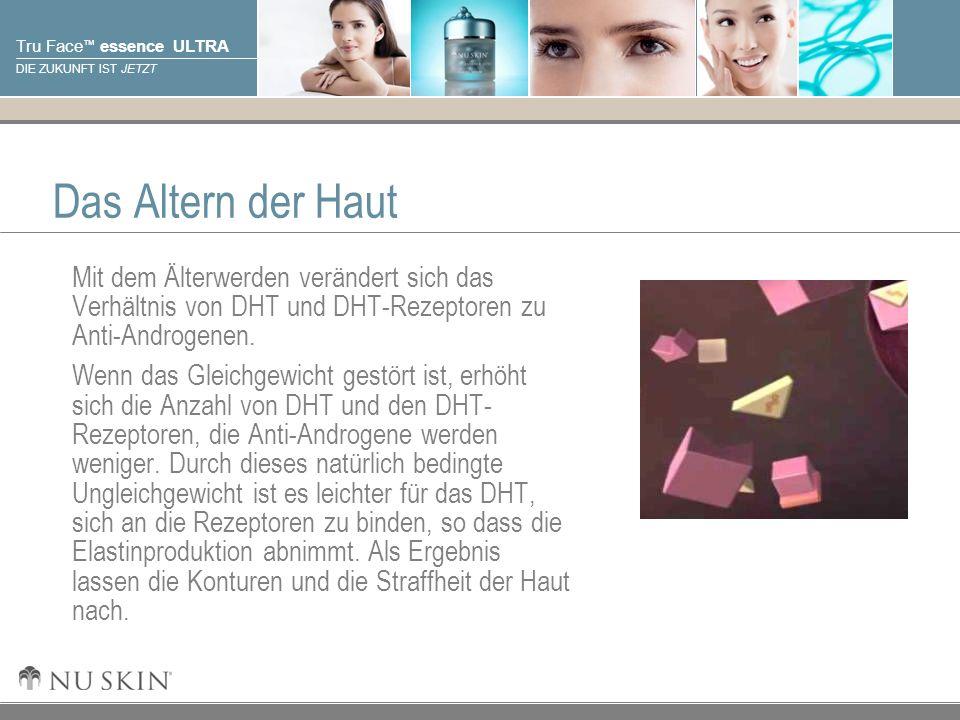 Das Altern der Haut Mit dem Älterwerden verändert sich das Verhältnis von DHT und DHT-Rezeptoren zu Anti-Androgenen.