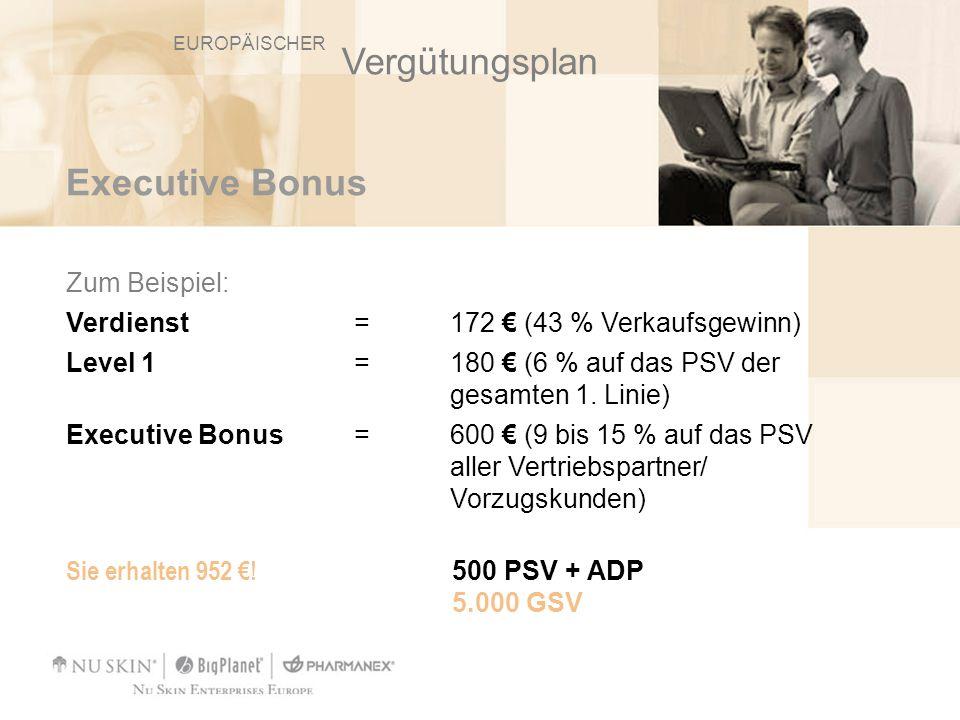 Vergütungsplan Executive Bonus Zum Beispiel: