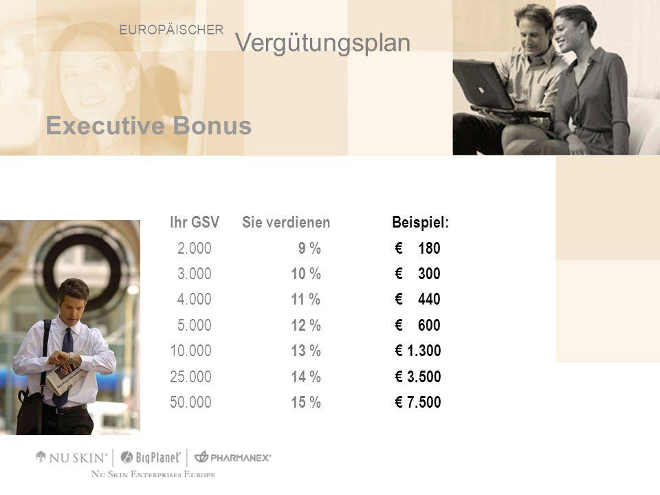 Vergütungsplan Executive Bonus Ihr GSV Sie verdienen Beispiel: