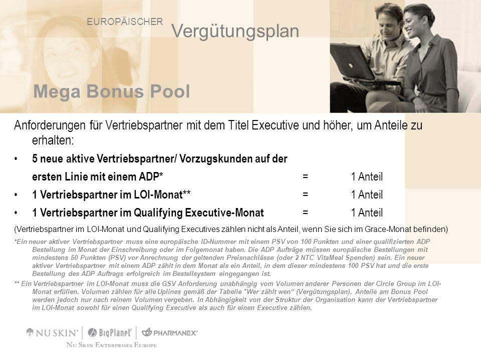 Vergütungsplan Mega Bonus Pool