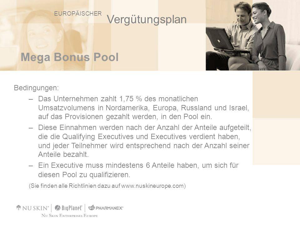 Vergütungsplan Mega Bonus Pool Bedingungen: