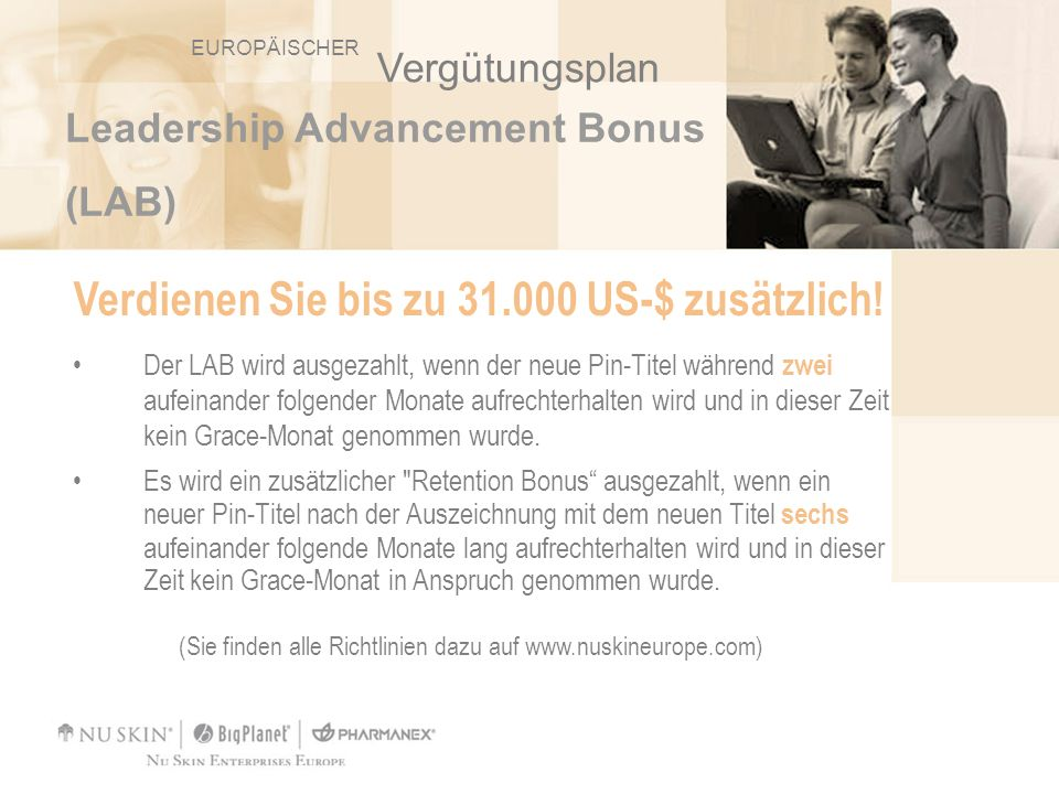 Verdienen Sie bis zu 31.000 US-$ zusätzlich!