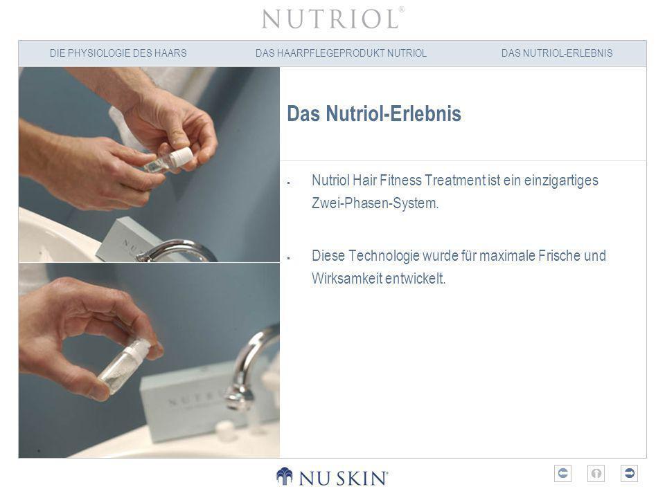 Das Nutriol-Erlebnis Nutriol Hair Fitness Treatment ist ein einzigartiges Zwei-Phasen-System.